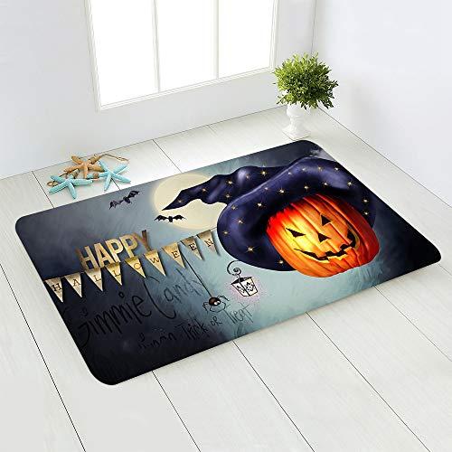 LMSDALAO tapijt Halloween Horror Patroon Tapijt Badkamer Slip Mat Slaapkamer Woonkamer Toilet Vloer Mat Groothandel