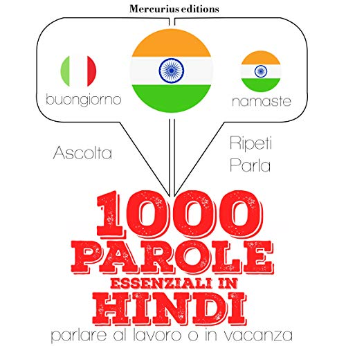 1000 parole essenziali in Hindi audiobook cover art