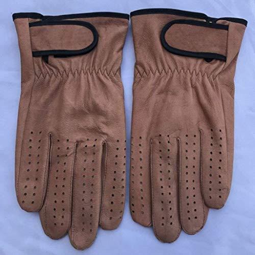 SDGDFGD Guantes de soldadura Guantes de jardinería Guantes de soldadura de forja de cuero para soldador Mig/tig, barbacoa/cocina/corte, guantelete de soldadura protector (color: C, tamaño: grande)