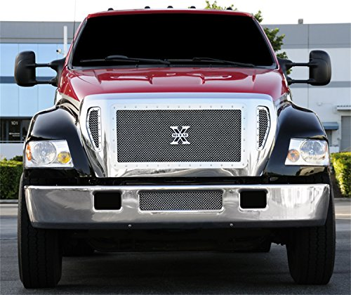 TRex Grilles 6715410 Large Mesh Stainless Polished Finish XMetal Grille Insert for Ford F650