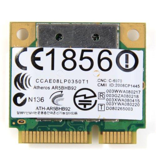 Atheros 9280 Abgn Half Size Wireless Card 300Mbps Ar9280 AR5BHB92 Dual-band 2.4GHz and 5GHz 802.11a/b/g/n