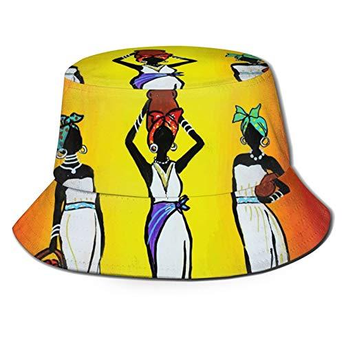 GAHAHA Fischerhüte für Männer, afrikanische schöne Frauen, Fischermütze, Jagd, langlebig, UV-Schutz, faltbar, Sommerhut für den Außenbereich