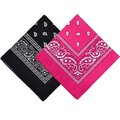 Bandana pour homme et femme, motif cachemire, bandeau, écharpe, bracelet fantaisie imprimé double face, 100 % coton