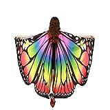 Alas De Mariposa Chal Mariposa Mujer Accesorio Traje Nymph Pixie Cosplay Partido (Arco Iris)
