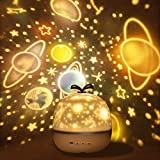 misognare Baby Night Light Rechargeable Star Projector Lamp with 360 Degree Rotation