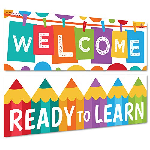 Sproutbrite Welcome Classroom Decorations - Banner Posters for Teachers - Bulletin Board and Wall Decor for Pre School, Elementary and Middle School