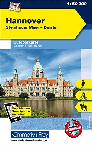 Hannover, Steinhuder Meer, Deister: Nr. 57, Outdoorkarte Deutschland, 1:50 000, Mit kostenlosem Download für Smartphone (Kümmerly+Frey Outdoorkarten Deutschland)