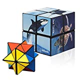 Infinity Cube Magic Star Cube Puzzle for Kids 2 in 1, Magic Cube for Adults and Kids, Fidget Toys for Adults Stress Anxiety Relief Magic Puzzle Cubes (Ocean Series)