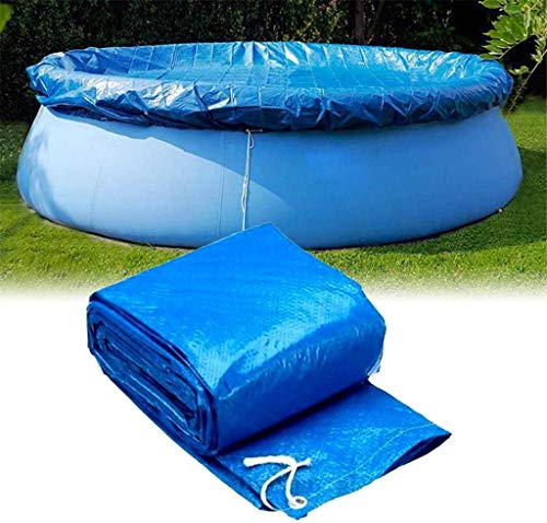 GT-LYD Round Solar Pool Cover, Diameter Easy Pool Cover Set for Frame Pools Inflatable Swimming Pool Cover Fast Set Pool Cover (8/10/12Ft),Diameter 366cm