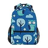 Schulrucksack mit Eulenbaum, dunkelblau, großes Fassungsvermögen, Segeltuch, lässig, Reisen, Tagesrucksack für Erwachsene, Teenager, Damen, Herren, Kinder