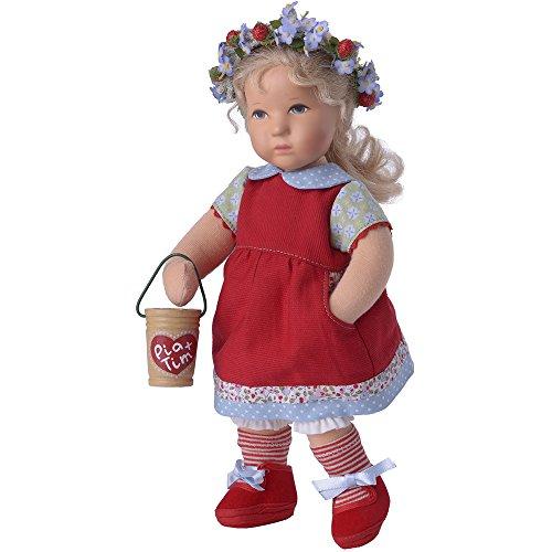 Käthe Kruse 125705 Puppe Däumelinchen Pia 25cm, Rot, 25 cm