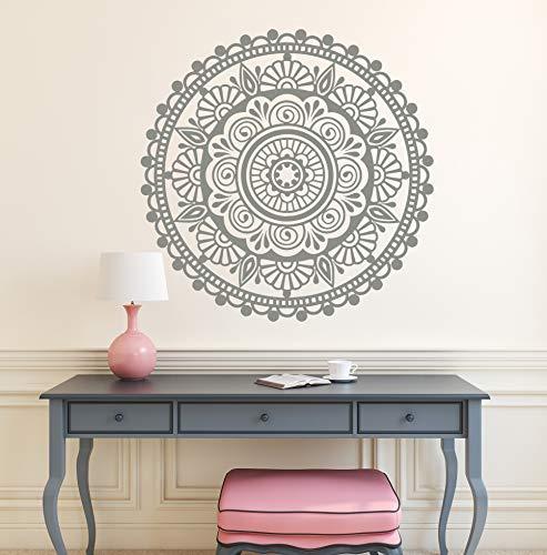 DesignQualityService | Mandala Wandtattoo | Wandaufkleber Dekor | Wandsticker L13 (70 cm x 70 cm)