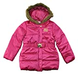 Juicy Couture Baby Girls Infant Puffer Outerwear Coat (Fuchsia, 12M)