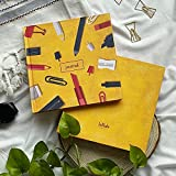 Practice makes a man perfect. So to be a perfect calligraphist we have perfect practicing pads for you . These pads come in a 5 x 5 mm grid. We have specially designed these perfectly square journals so that you can experiment & understand your scrip...