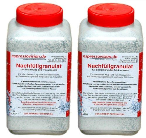Nachfüllgranulat 2 Liter - Teilentsalzungsharz / Filtergranulat für Wasserfilter (In-Ta-Fil, Claris, Aqua Prima, Aqua Select, Intenza, Laurastar) / Luftbefeuchter (z.B. Solis) / Ultraschallvernebler