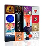 Kanye West Album Cover Art Collage Poster Printing Living Room Bedroom Wall Decoration Canvas Painting Santa RONA Xirokey (24×24inch Canvas Rolls,MLM0417)