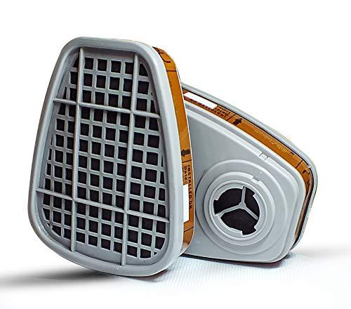 GOOMOOY UNIVERSAL Ersatz Set Aktivkohlefilter Ffp3 Atemschutzmaske Gasmaske Antigas | Staubdichtes Atemschutzgerät Halbmaske Schutz Arbeitschemikalien Pulver Lackierung Giftige Dämpfe |