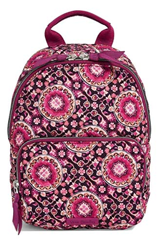 Vera Bradley Iconic Mini Backpack in Raspberry Medallion Performance Twill