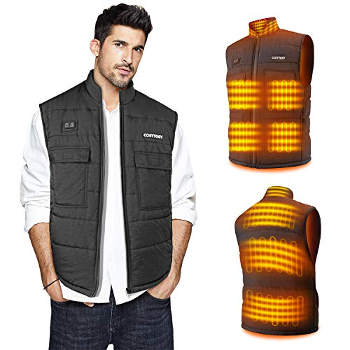 Heat Vest for Man/Woman, Collar Heating Jacket Outdoor, Winter Apparels