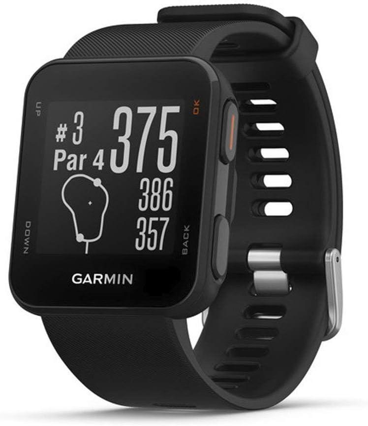 Garmin Approach S10 - Reloj de golf con GPS, color negro (Reacondicionado)