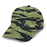 Youth Baseball Caps Made Adjustable Fits Sports Hat for Running, Workouts, Outdoor Activities, UPF 50 Run Cap Vietnam Tiger Stripe Camo Dad Hats
