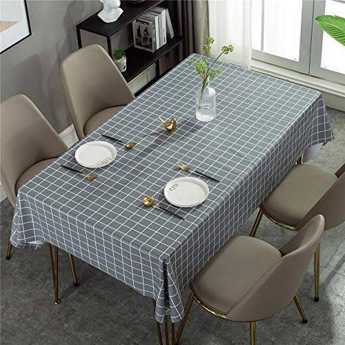Oukeep Water-Proof, Oil-Proof And Wash-Free Plaid Table Cloth Pvc Material, Suitable For Kitchen, Dining Table, Home, Hotel, Etc.