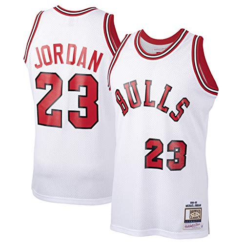 XIAOJI Equipo uniforme Blanco - Jersey de baloncesto personalizado Chicago Traning Jersey Bulls Nets #23 Michael Hardwood Classics Novato Jersey Icono Edition-M