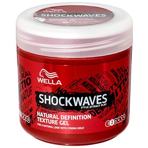 Wella ShockWaves Natural Definition Texture Gel 150ml - 3 Stück pro Pack