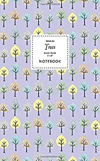 Trees Notebook - Ruled Pages - 5x8 - Premium (Mauve)