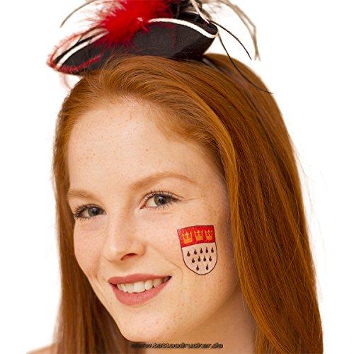 50 x Keulen tatoeages - Keulen stadswapen wapen bord sticker Kolonia carnaval & carnaval (50)