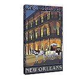 Vintage New Orleans Reise-Poster auf Leinwand, Wandkunst,