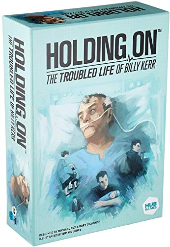 Holding On The Troubled Life of Billy Kerr Board Game | Medical Mystery Game | Strategy Game | Cooperative Game for Adults | Ages 14+ | 2-4 Players | Avg. Playtime 40-60 Minutes | Made by Hub Games