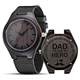 Engraved Wooden Watches, Personalized Engraved Wood Watch Japanese Movement Battery Anniversary Birthday Graduation...