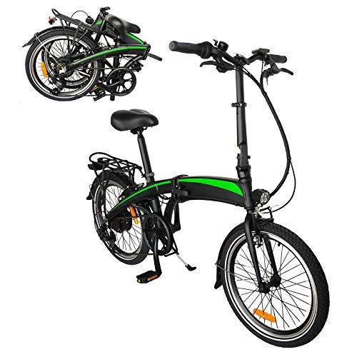 Bicicleta elctrica de montaa Bicicleta Plegable Bicicleta eléctrica de Altura Regulable Bicicleta de Ciudad con 3 Modos de conducción Adecuado para Hombres y Mujeres Adultos.