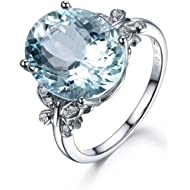 AopaoZ Rhinestone Butterfly Ring Natural Topaz Stone Crystal Engagement Ring Charm Gemstone Ring...