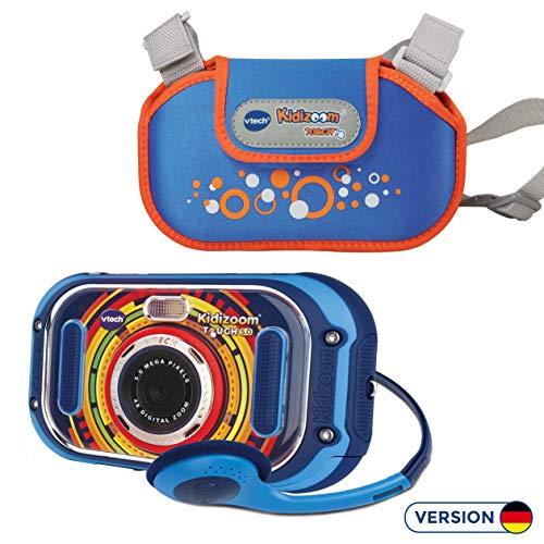 Vtech 80-163594 KidiZoom Touch 5.0 blau inkl. Tragetasche Kinderkamera