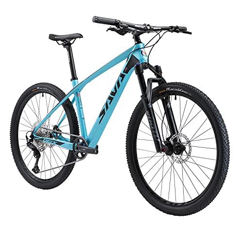 SAVADECK DECK6.0 Bicicleta de Montaña Carbono Ultraligera MTB de 27.5/29 Pulgadas con Cola rígida Completa con neumáticos Shimano DEORE M6000 Gpuppreset de 30 velocidades y Neumáticos Continental