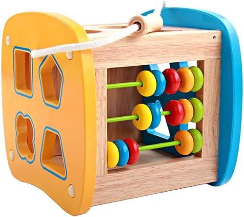 RENJUN Kinder Frühe Bildung Multifunktionsform Passende Box Klopfen Auf Den Klavierperlen Perlen Digitalen Obst Kognitive Holzspielzeug, 18x17,2x17,5 cm Lernspielzeug für Kinder