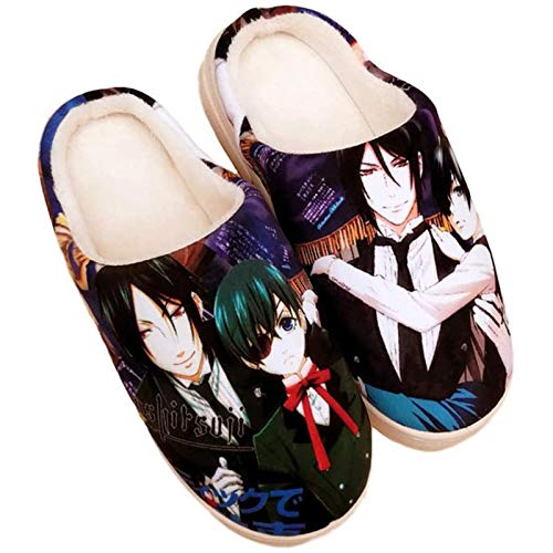 SJNX-Running Shoes Japanese Anime Women Slippers 3D Print Cosplay Indoor Slippers Indoor Warm Plush Slippers, Perfect for Cold Seasons