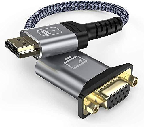HDMI auf VGA,Snowkids VGA auf HDMI Adapter (Steckdose) Unterstützung 1080P kompatibel für Laptop,PC,Projektor,HDTV,Monitor,Chromebook, Raspberry Pi,Roku und mehr (Nicht kompatibel für PS4,MacBook)