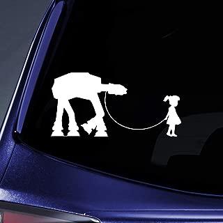 Bargain Max Decals - Girl Walking Robot - Sticker Decal Notebook Car Laptop 8