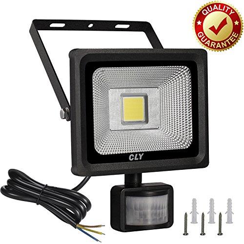 Foco con Sensor de Movimiento CLY LED con Sensor de Movimiento 20W Focos LED Exterior 1800LM Impermeable IP66, Lampara LED con Sensor de Exterior y Seguridad