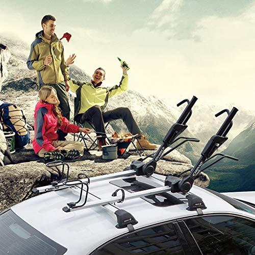 Fahrradständer Universal-Autodach-Fahrradträger - Fahrradträger aus Aluminium - Auf dem Dach aufrecht für SUV - Last 150 kg - Mountain & Rennrad Regal