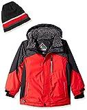 ZeroXposur Little Juvi Boys Chamfron Snowboard Jacket, Red, Small