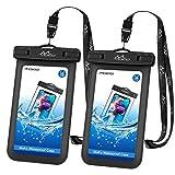 Universal Waterproof Phone Case, [2 Pack] MoKo Waterproof Phone Pouch Dry Bag