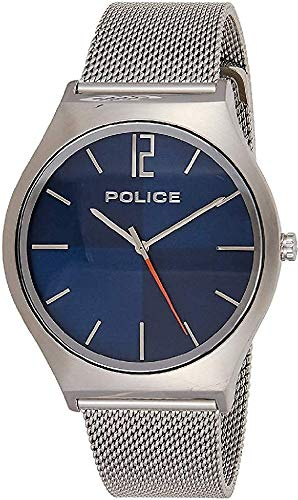 POLICE OUTLET Reloj Analógico para Hombre de Cuarzo con Correa en Acero Inoxidable 1