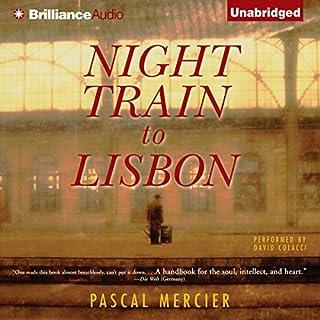 Night Train to Lisbon audiobook cover art