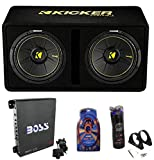 KICKER 12' Full Package - Subwoofer Enclosure, Amp, Capacitor, and Amp Kit