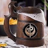 Brotherhood Of Steel Beer Mug, Fallout Beer Stein, Custom Video Gamer Beer Stein, Geek Gift, Personalized Beer Tankard, Gift for Men, Gift for Him