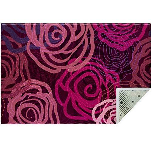 Bennigiry Teppich, weich, fliederfarben, rutschfest, groß, für Wohnzimmer, Schlafzimmer, Spielzimmer, 152 x 91 cm, Polyester, Multi, 160x120cm/63x47in